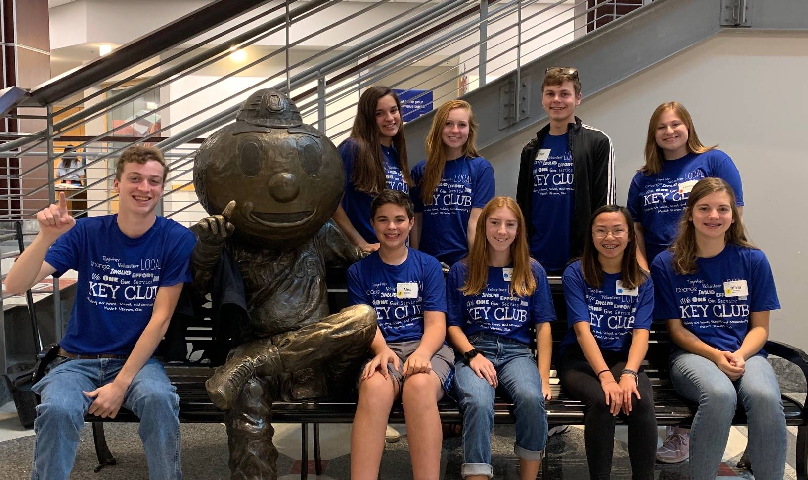 Key Clubbers at Fall Rally at OSU