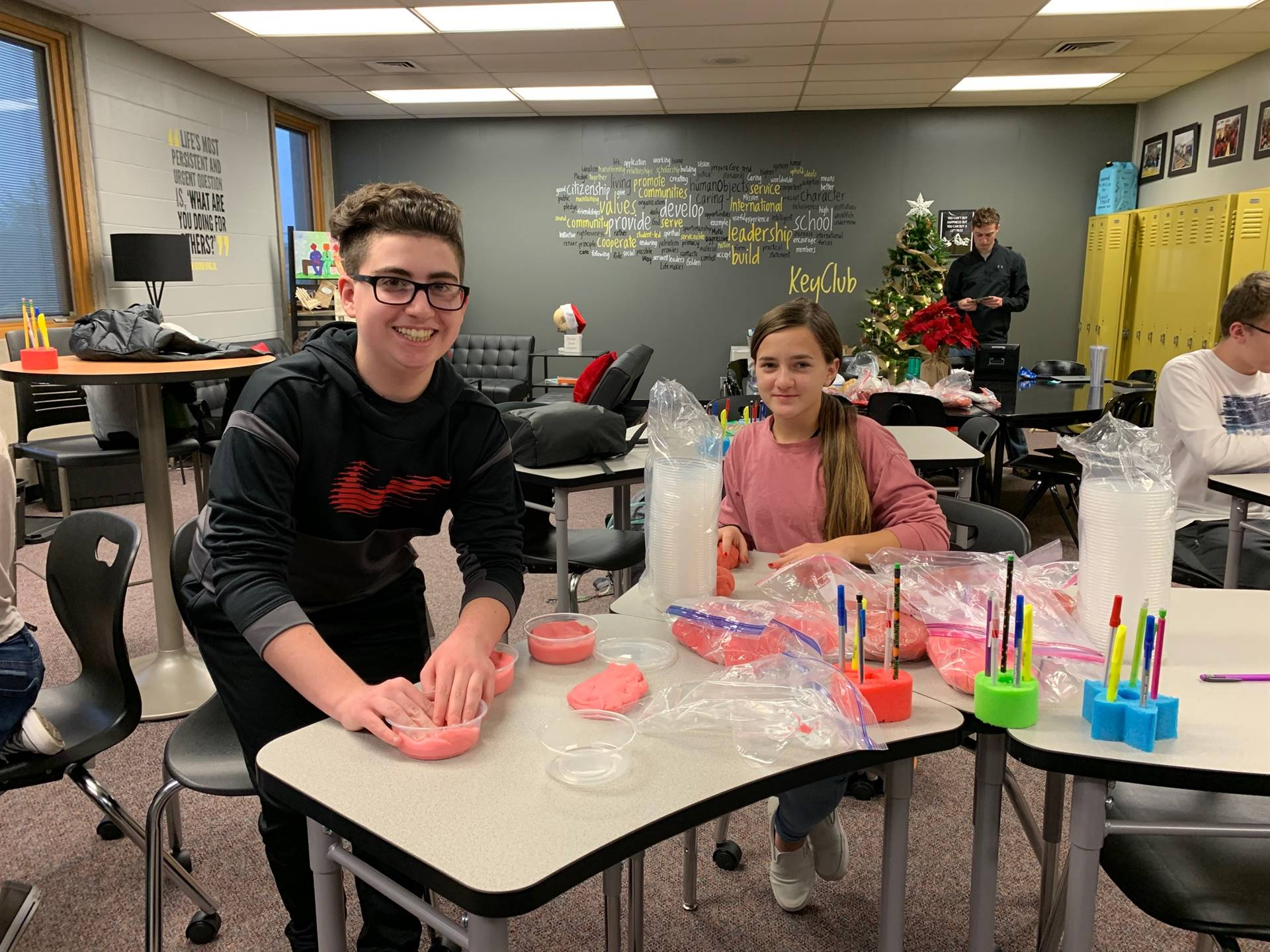Making Play-Doh for Salvation Army