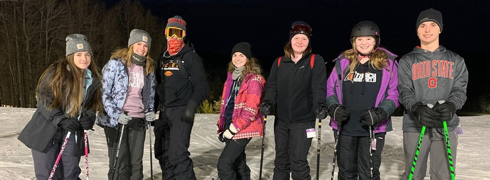 High School Ski Club at Snowtrails Resort.