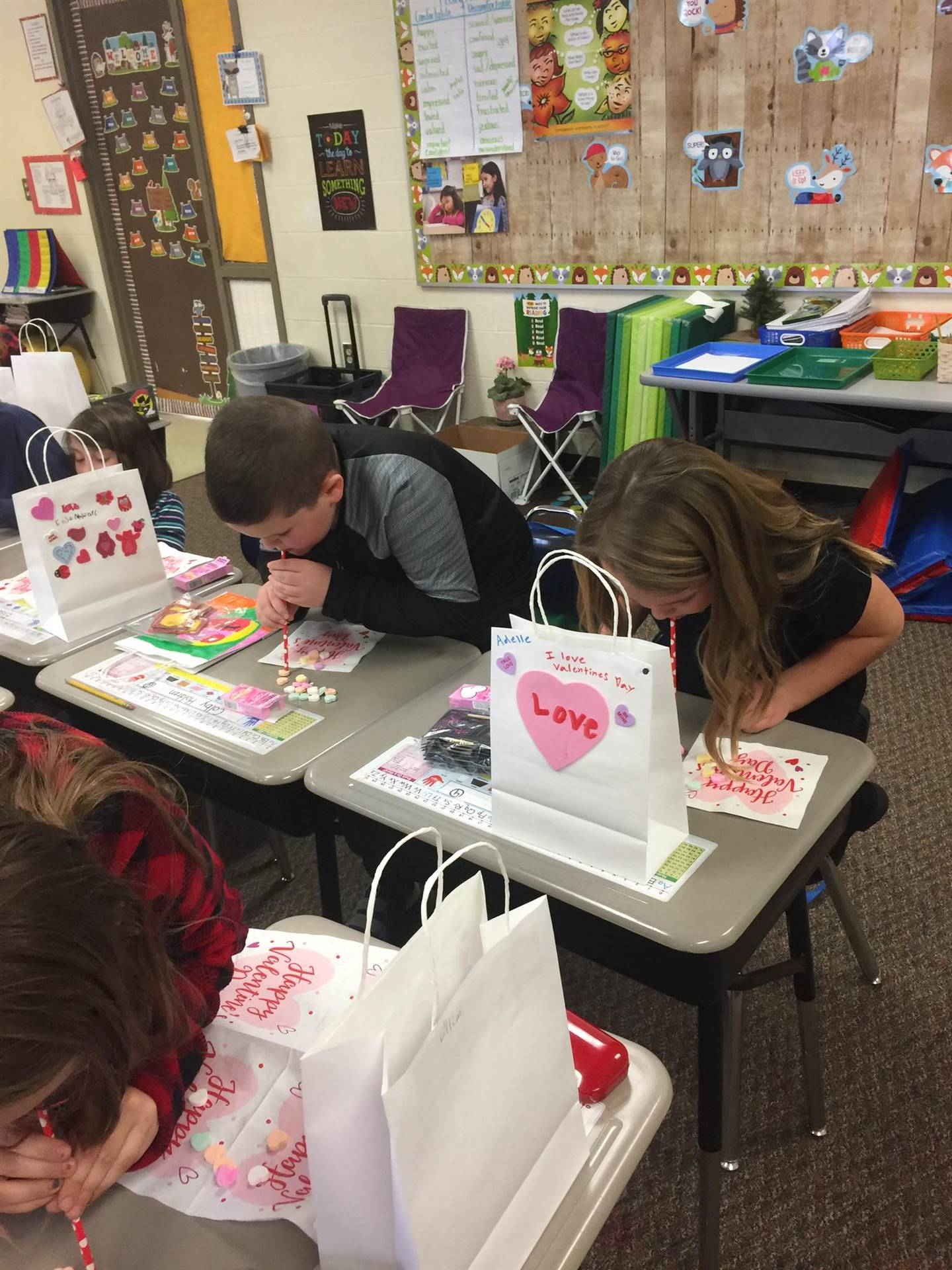Celebrating Valentine's Day with crafts, food, fun, and games!