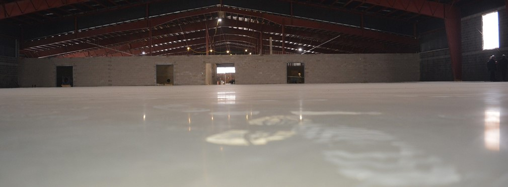 Floor of the fieldhouse.