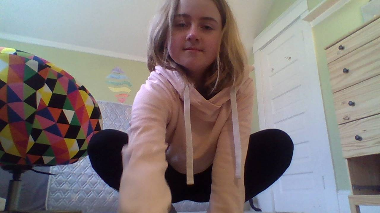 Child doing a full squat