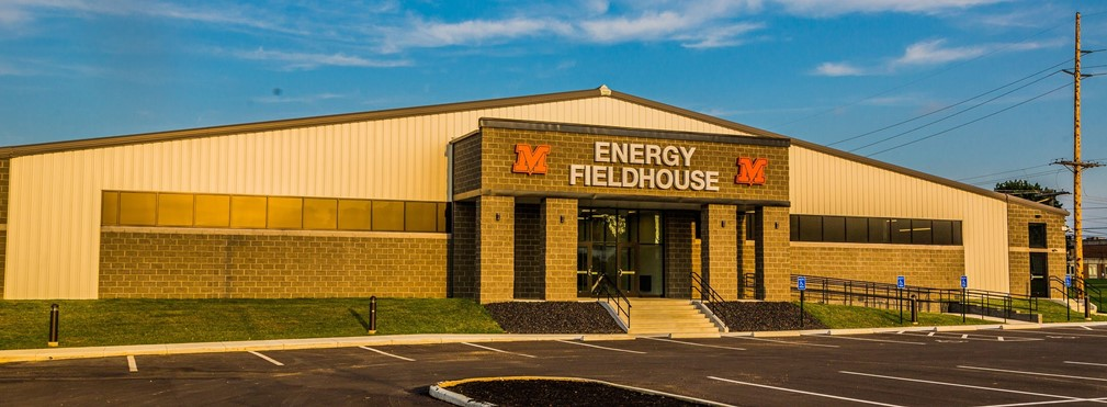 Energy Fieldhouse entrance.