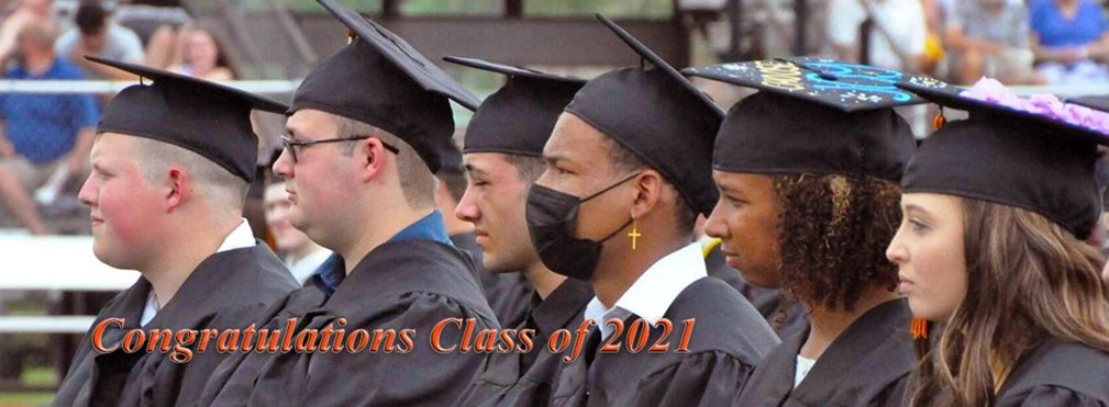 Members of the Class of 2021 waiting to graduate.