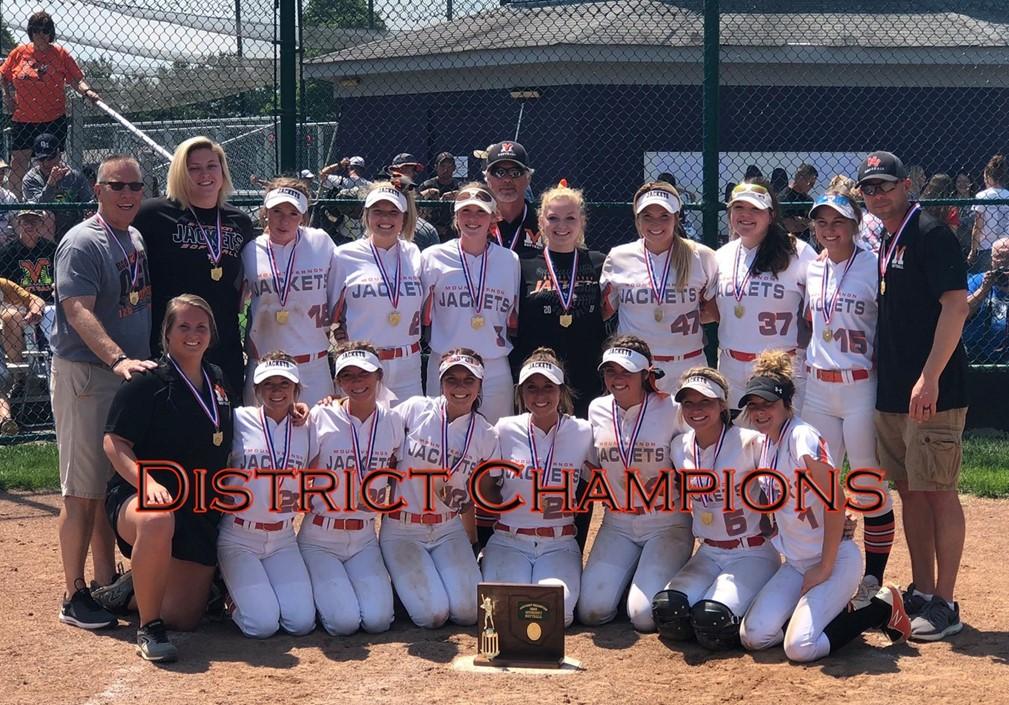 Girls Softball District Champions