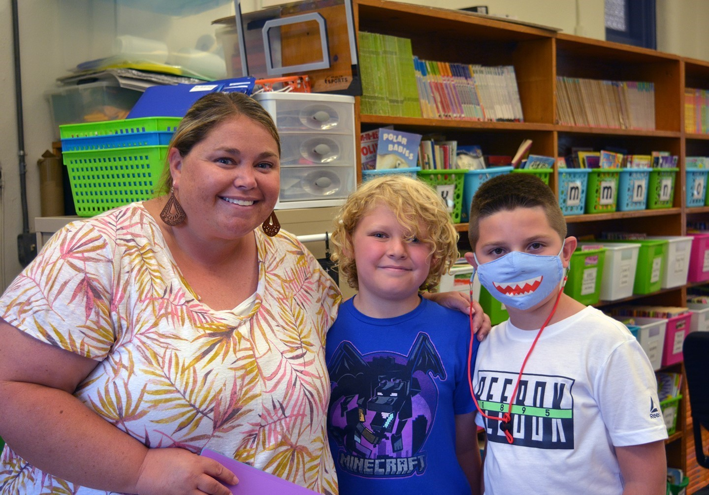 Mrs. Melton and two of her students.