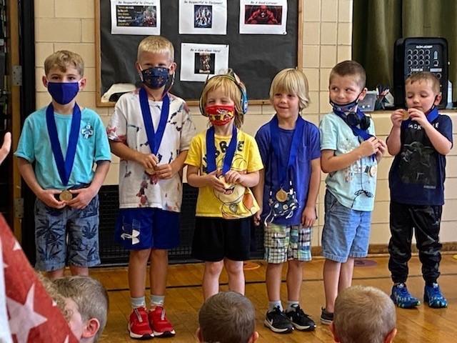 Kindergarten Reading Medalists