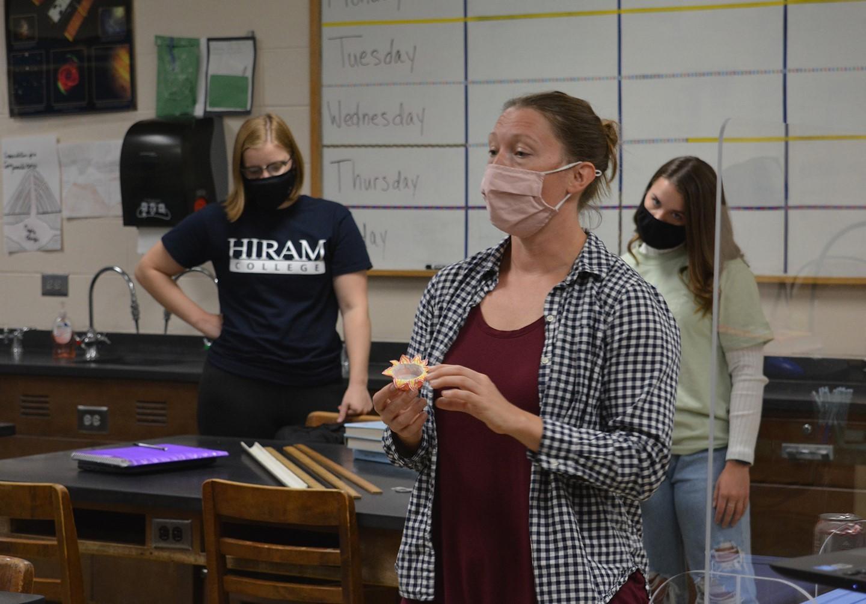 Ms. Prinkey teaching AP Physics.
