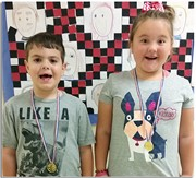 Students winning the gold for learning the most sight words.