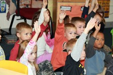 Picture of Columbia Elementary students.