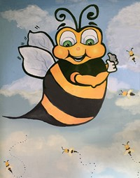 Bumble Bee painting from old Elmwood Elementary school.