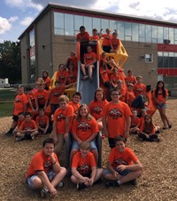 This is a picture of Columbia 5th graders.