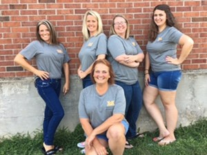 back row: Ms. Lanning, Mrs. Sanders, Mrs. Sweeney, Miss Perreira, front: Ms. Kingsmill