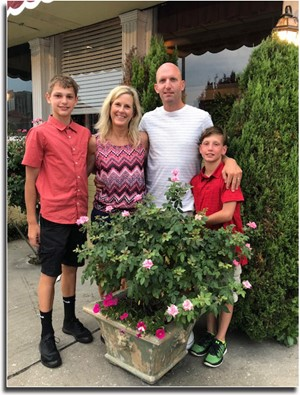 Mr. Sanford with his wife and two sons.