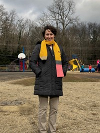 Mrs. Treber in the Playground