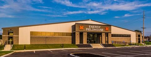 The Energy Fieldhouse entrance.