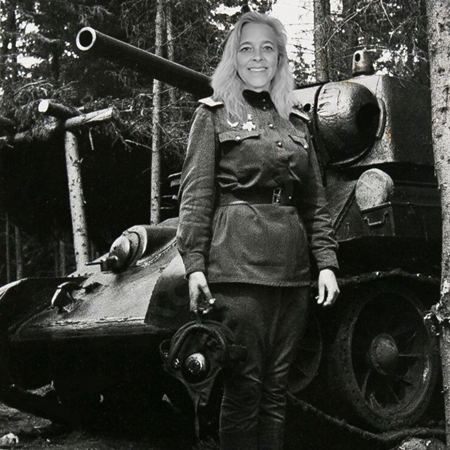 Mrs. Henthorn and her KV1 Tank