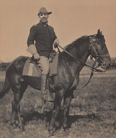Mr. Robertson as Theodore Roosevelt