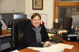 Mrs. Miller in her Office